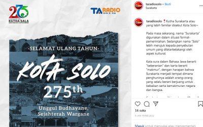 SELAMAT ULANG TAHUN KOTA SOLO 275