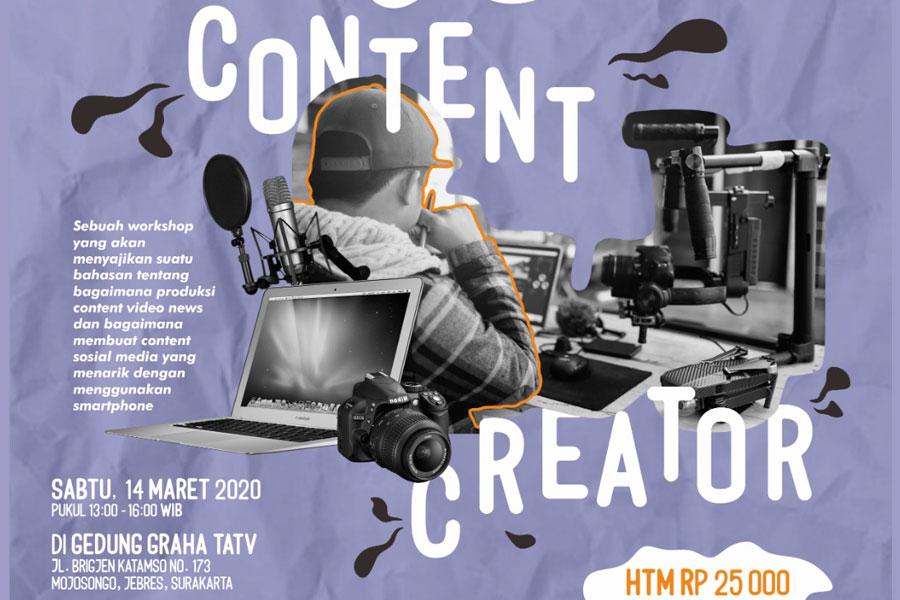 CONTENT CREATOR WORKSHOP CATAT TANGGALNYA